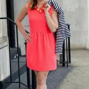 J. Crew Camille Hot Coral Pink Mini Casual Dress 2